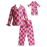 Girls 4-14 Dollie & Me Sheep Pajama Set