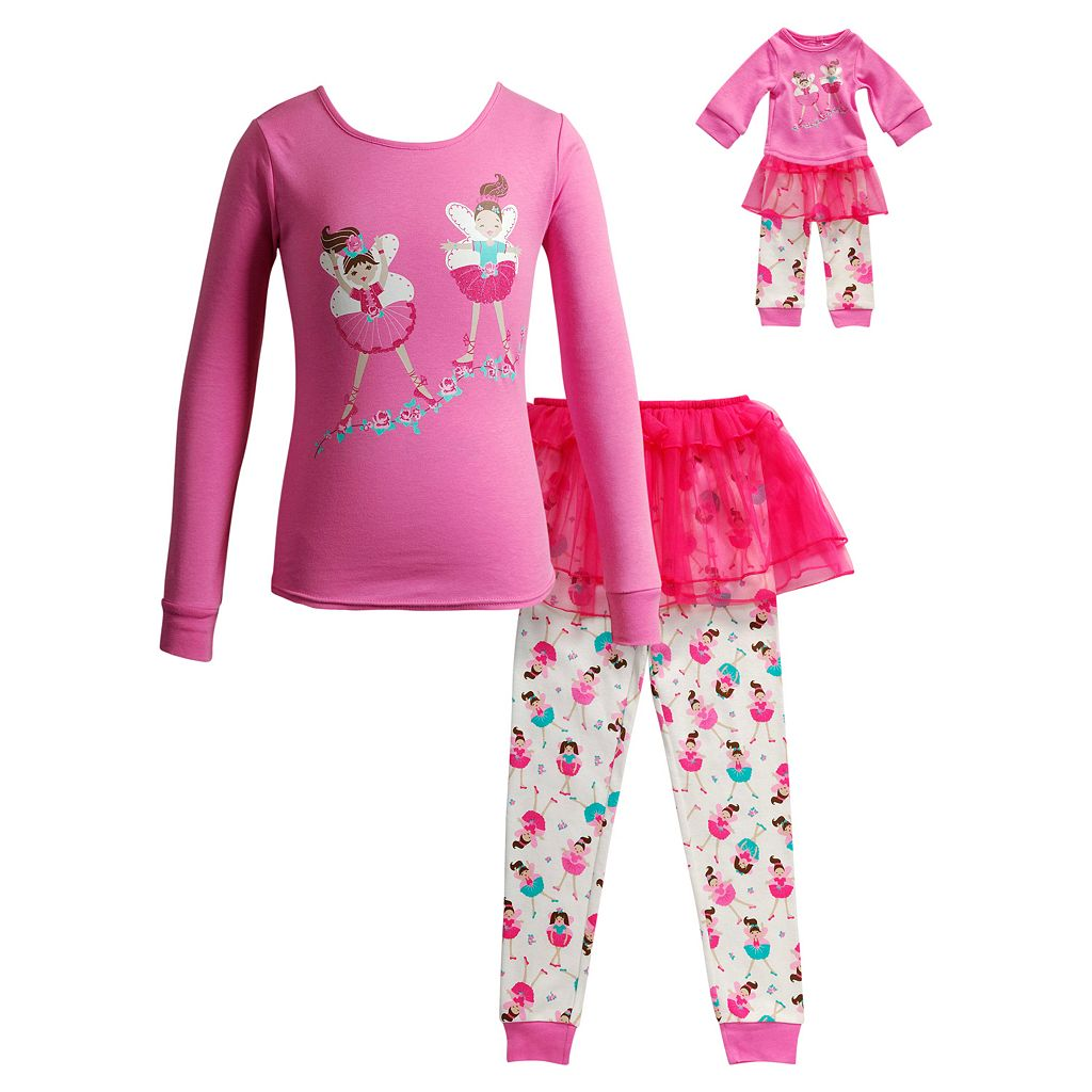 Girls 4-14 Dollie & Me Ballerina Tutu Pajama Set