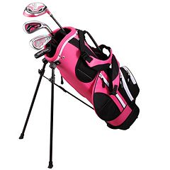 Kids Golphin 47'-51' Left Hand Complete Golf Clubs & Stand Bag Set