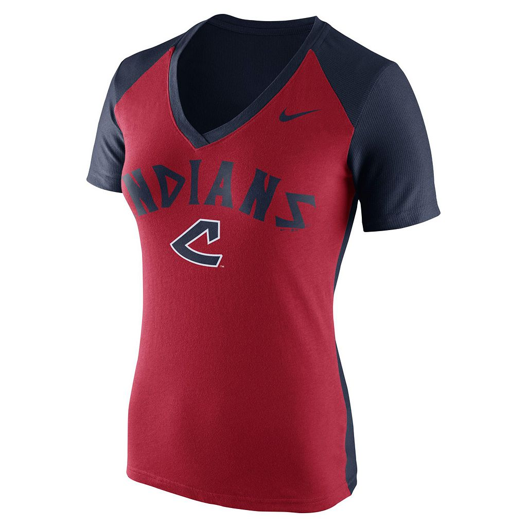 Women's Nike Cleveland Indians Cooperstown Fan Tee