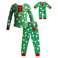 Girls 4-14 Dollie & Me Christmas Santa Pajama Set
