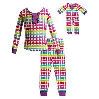 Girls 4-14 Dollie & Me Dot Pajama Set