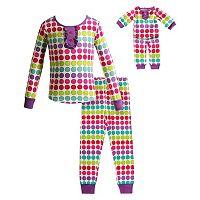 Girls 4-14 Dollie & Me Dot Pajama Set