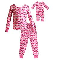 Girls 4-14 Dollie & Me Chevron Pajama Set