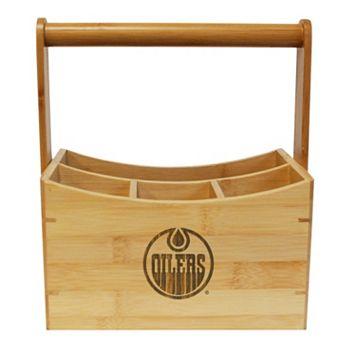 Edmonton Oilers Bamboo Utensil Caddy