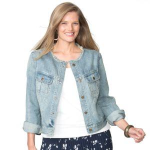 Plus Size Chaps Jean Jacket