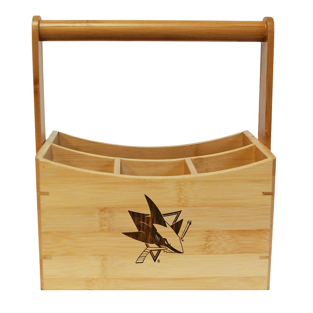 San Jose Sharks Bamboo Utensil Caddy