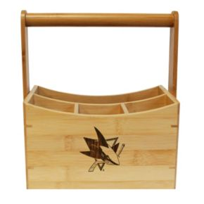 San Jose Sharks Bamboo Utensil Caddy
