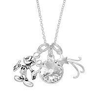 Disney's Mickey Mouse Crystal Charm Necklace