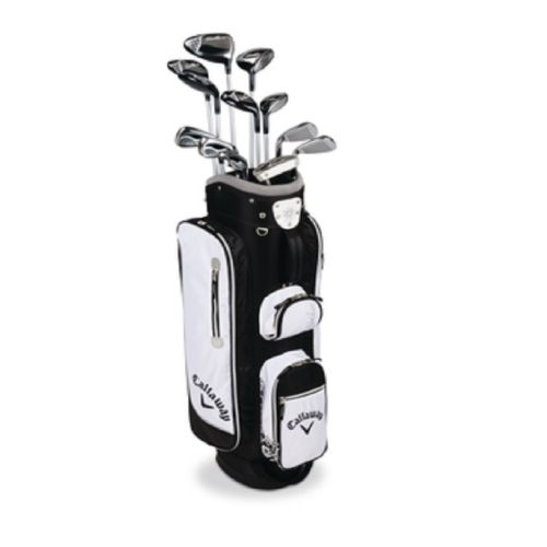 Womens Callaway Solaire Left Hand Golf Clubs Stand Bag Set