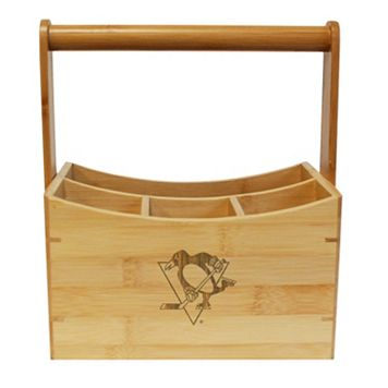 Pittsburgh Penguins Bamboo Utensil Caddy