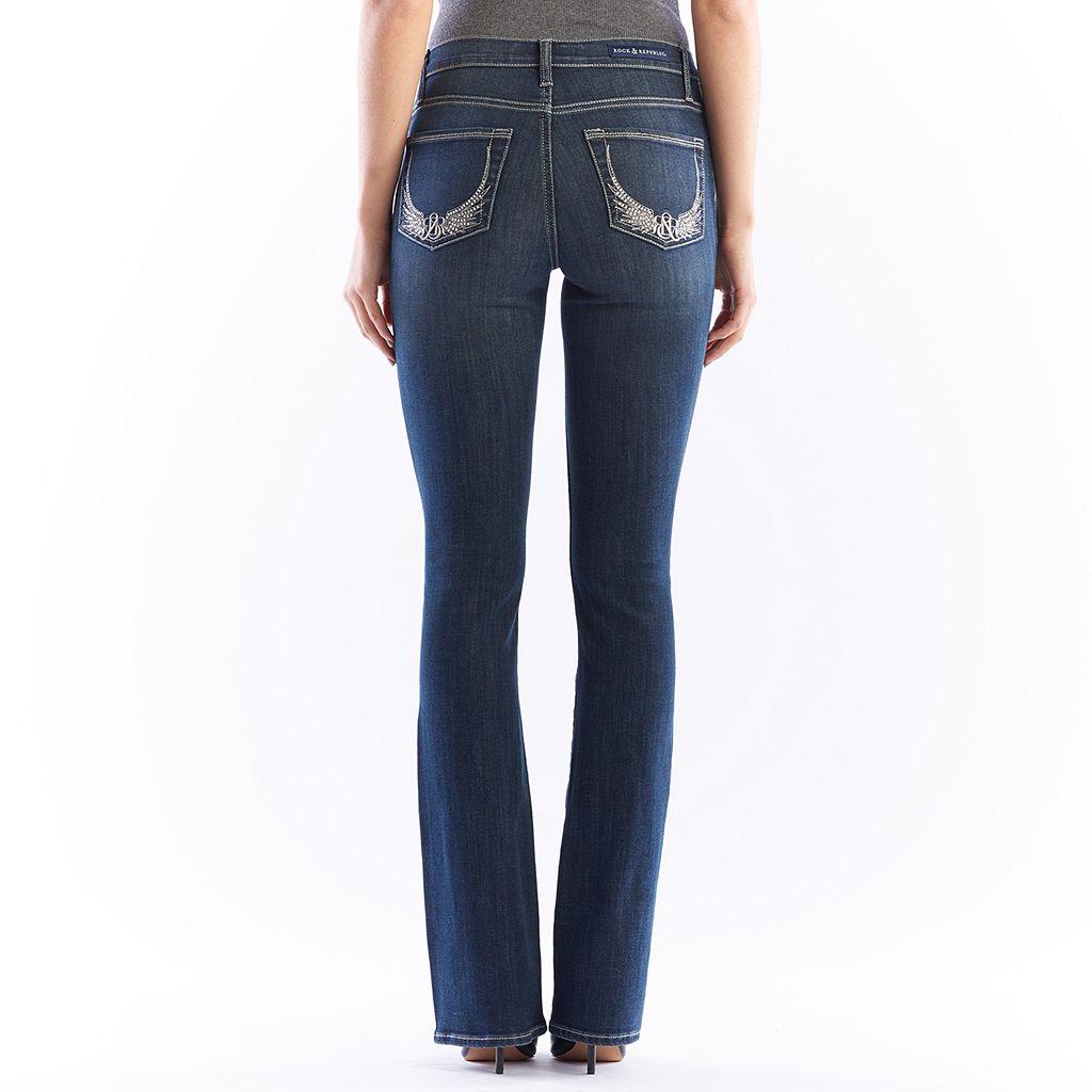 Women's Rock & Republic® Kasandra Embellished Bootcut Jeans