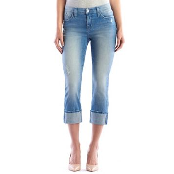 Women's Rock & Republic® Kendall Faded Cuffed Jean Capris