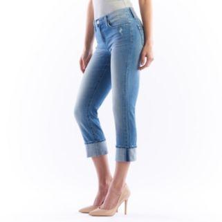 Women's Rock & Republic® Kendall Faded Cuffed Jean Capris