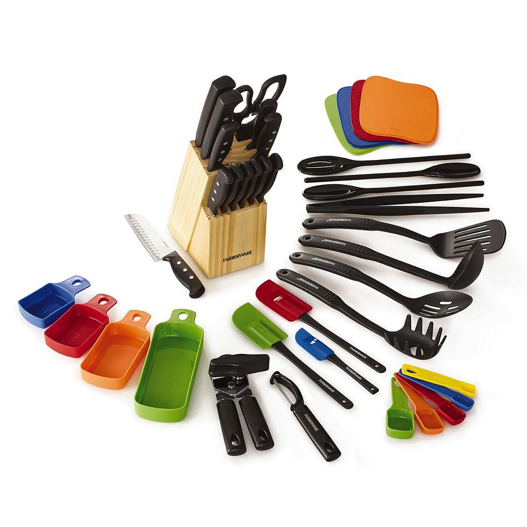 Farberware 40-pc. Cutlery & Gadget Set