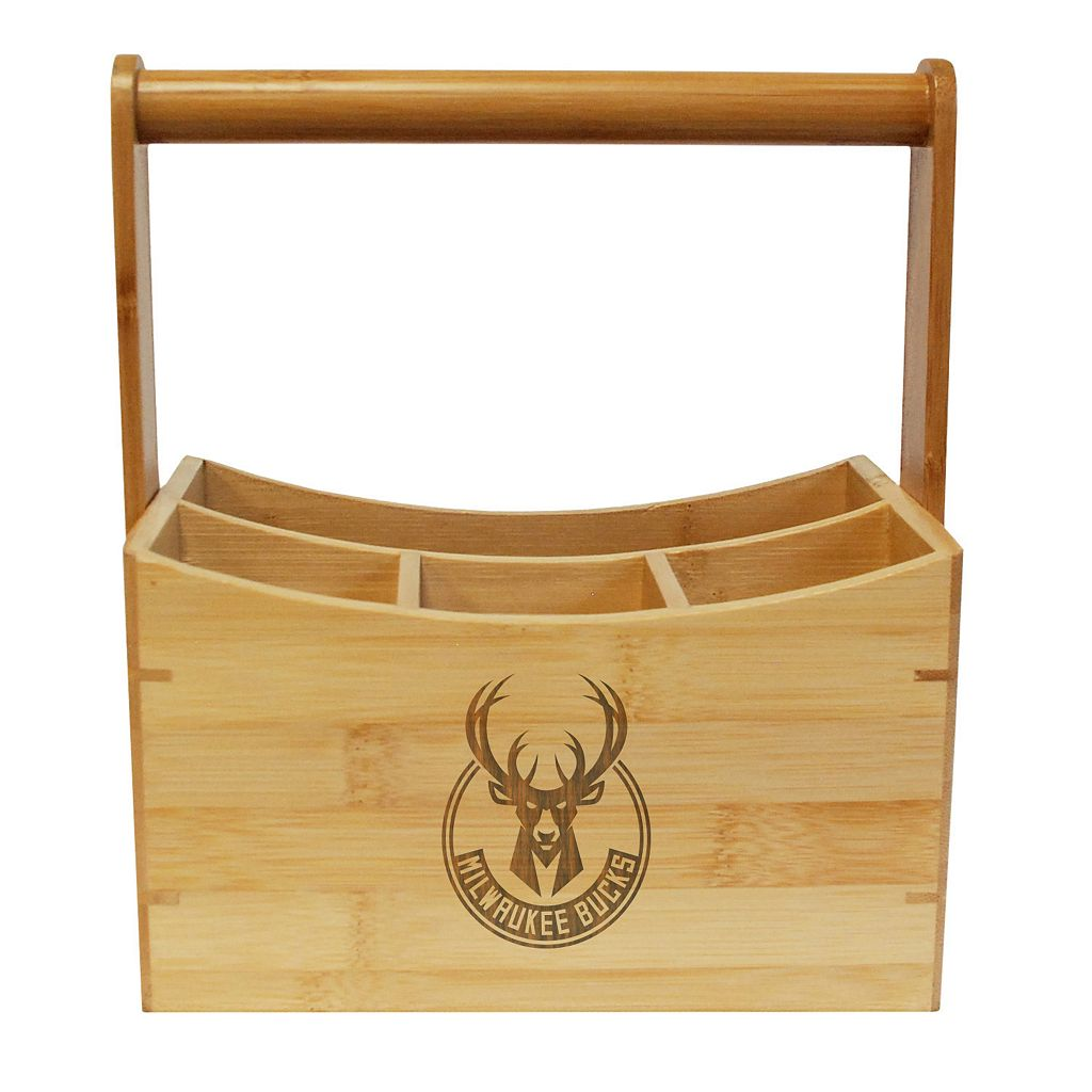 Milwaukee Bucks Bamboo Utensil Caddy