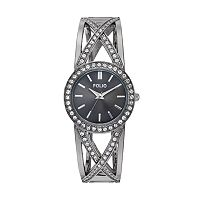 Folio Women's Crystal Crisscross Cuff Watch