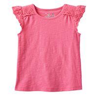 Toddler Girl Jumping Beans® Slubbed Eyelet Flutter Sleeve Tee