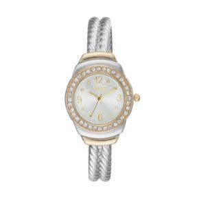 Folio Women's Crystal Twisted Cuff Watch