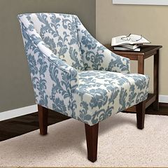 Armen Living Scroll Arm Chair