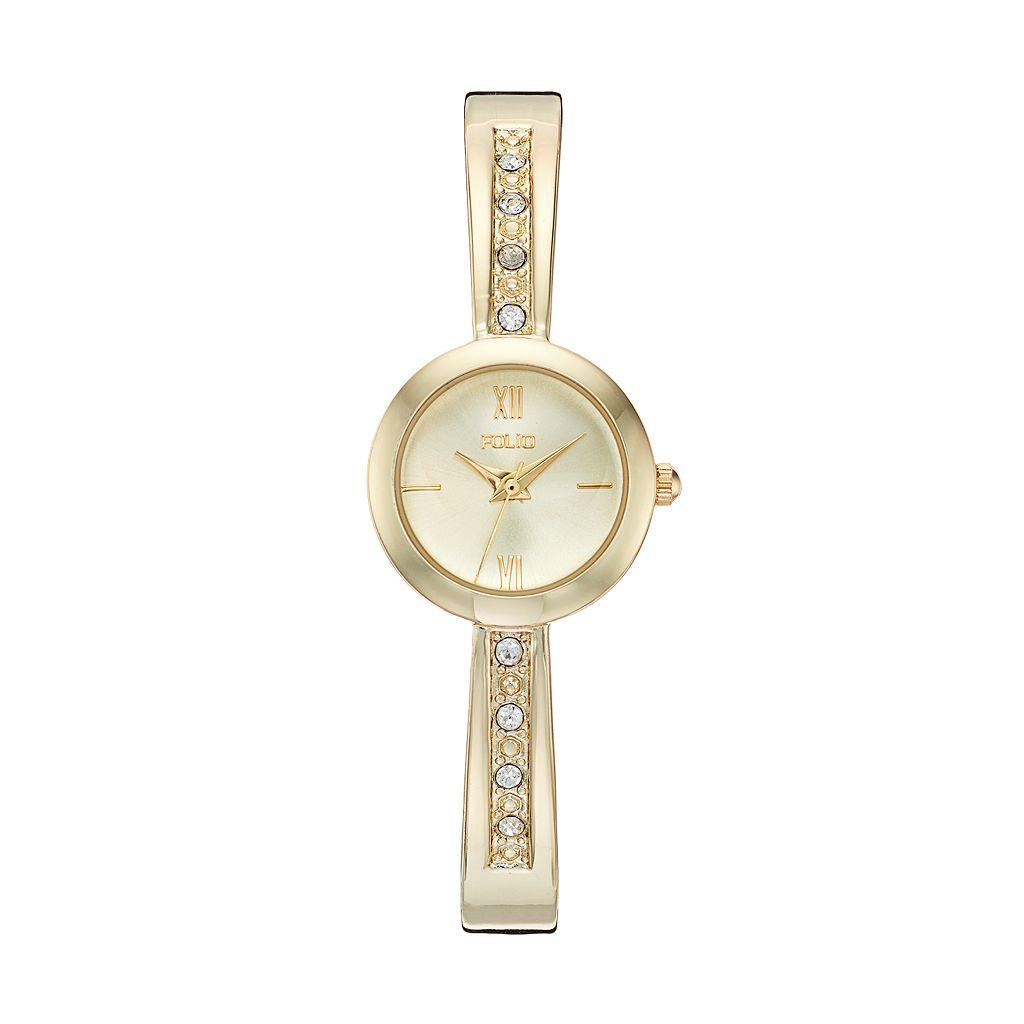 Folio Women's Crystal Cuff Watch