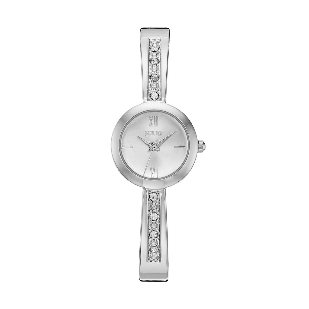 Folio Women's Crystal Cuff Watch