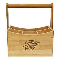 Oklahoma City Thunder Bamboo Utensil Caddy