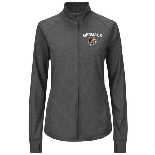 Plus Size Majestic Cincinnati Bengals Track Jacket