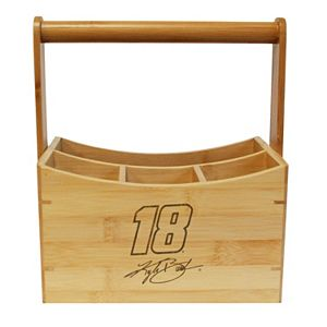 NASCAR Kyle Busch Bamboo Utensil Caddy