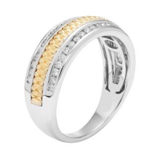 Two Tone 14k Gold 1/3 Carat T.W. Diamond Wedding Ring