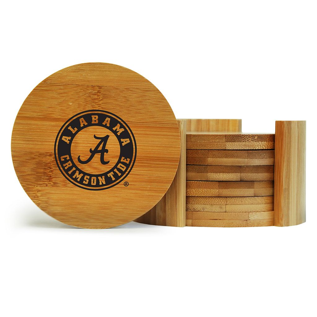 Alabama Crimson Tide 6-Piece Bamboo Coaster Set