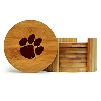 Clemson Tigers 6-Piece Bamboo Coaster Set