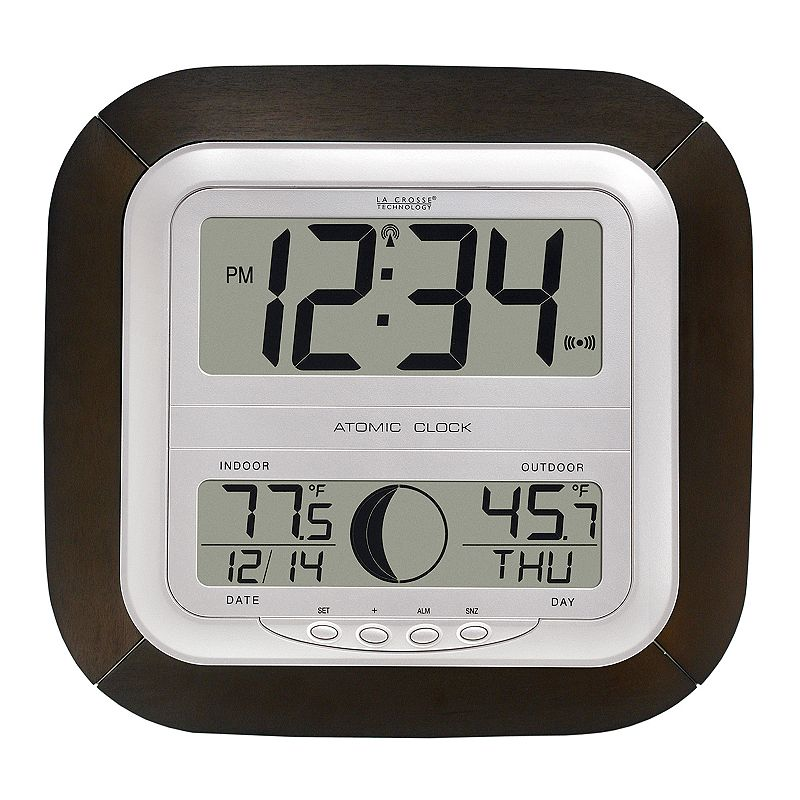 La Crosse Technology Digital Atomic Wall Clock, Multicolor