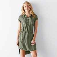 Women's SONOMA Goods for Life™ High-Low Shirtdress