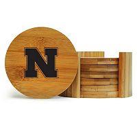 Nebraska Cornhuskers 6-Piece Bamboo Coaster Set