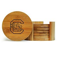 South Carolina Gamecocks 6-Piece Bamboo Coaster Set