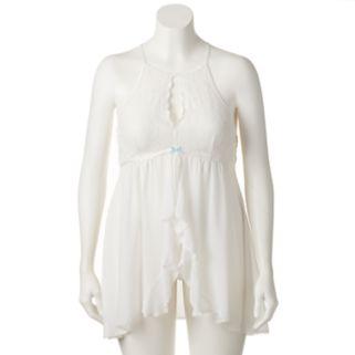 Plus Size Apt. 9® Bridal Sheer Babydoll Chemise