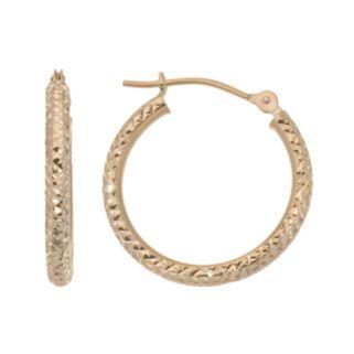 New York Gold Designs 10k Gold Hoop Earrings