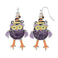 Halloween Owl Drop Earrings