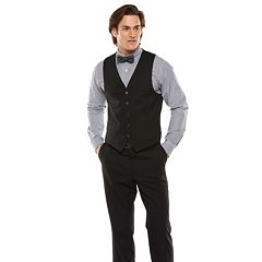 Men's Chaps Performance Classic-Fit Wool-Blend Comfort Stretch Suit Vest