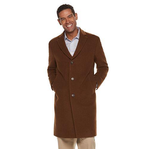 Men's Chaps Classic-Fit Wool-Blend Top Coat