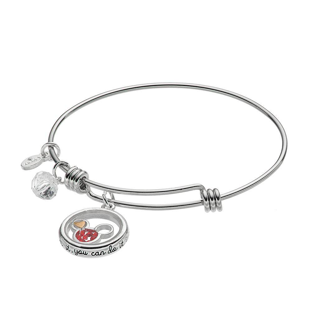 Disney's Mickey Mouse Crystal Floating Charm Bangle Bracelet