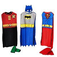 Kids DC Comics Batman, Robin & Superman Action Costume Trio Set