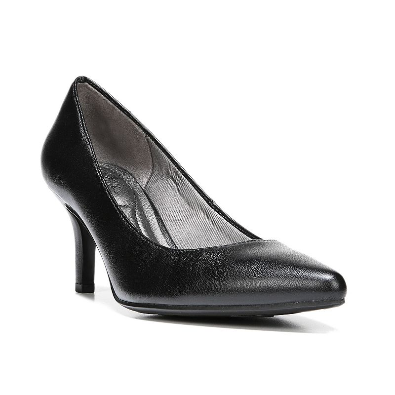 Love your look when you step out in these Sevyn high heels from LifeStride.SHOE FEATURES Soft System comfort provides all-day support, flex, and cushioning Sleek design Stiletto heel Traction sole provides you with extra stability SHOE CONSTRUCTION Microfiber upper Fabric lining Manmade outsole SHOE DETAILS Pointed toe Slip-on Padded footbed 2.63-in. heel  Size: 11 Wide. Color: Oxford. Gender: female. Age Group: adult. Material: Faux Suede|Faux Leather.