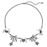 Spider & Spiderweb Necklace