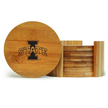 Iowa State Cyclones 6-Piece Bamboo Coaster Set