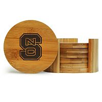North Carolina State Wolfpack 6-Piece Bamboo Coaster Set