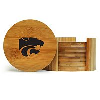 Kansas State Wildcats 6-Piece Bamboo Coaster Set