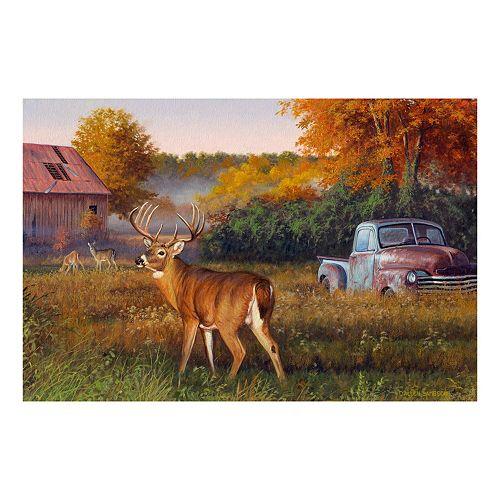 Reflective Art Vintage Canvas Wall Art
