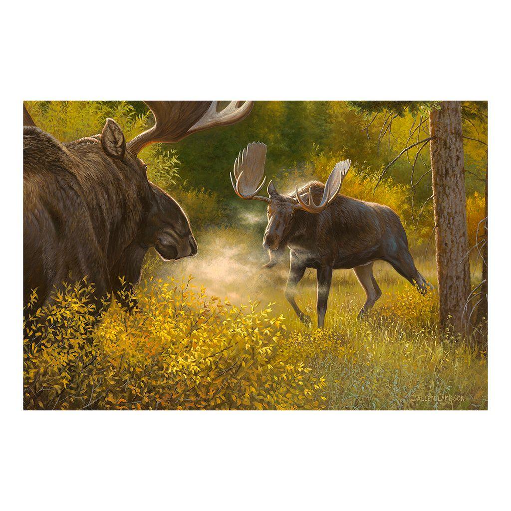 Reflective Art Bring It Moose Canvas Wall Art